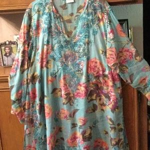 Floral Cotton Tunic